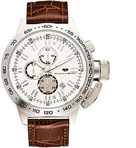 Rhodenwald & Söhne Nantano - Reloj cronógrafo de caballero de cuarzo con correa de piel marrón (cronómetro)