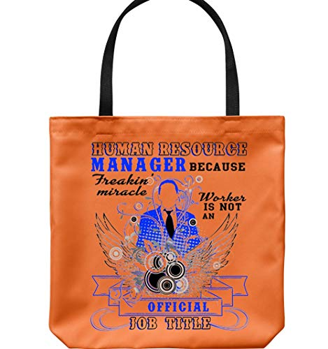 Miracle Worker Is Not An Official Job Title Canvas Tote Bags, Human Resource Manager Tote Bags (Tote Bags - Orange) ()