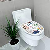 Auraise-home Bathroom Removable PVC Young boy Child is Writing Out h and Science Equations and Formulas Use it for a School Study Vinyl Removable Bathroom W12 x L14