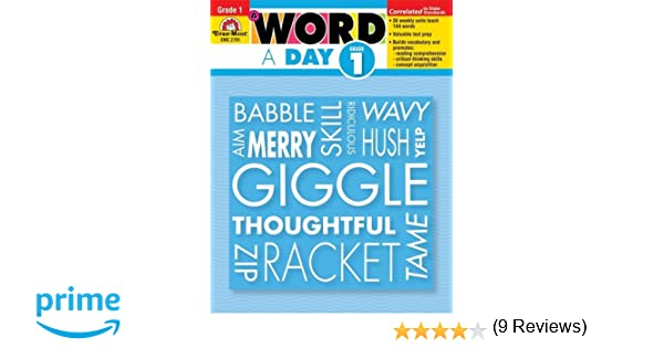A Word a Day, Grade 1: Evan Moor: 0023472027917: Amazon.com: Books