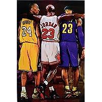 Michael Jordan Kobe and James Legends Fan Tribute Poster, Size 24x36