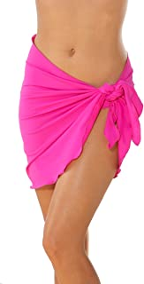 product image for Blue Sky Swimwear Women's Sarong Cover Up Solid Fuchsia (Bottom Only One Size)