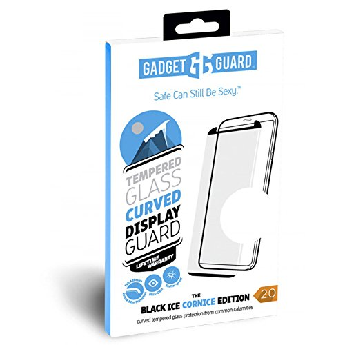 Gadget Guard Black Ice Cornice 2.0 Full Adhesive Curved Tempered Glass Screen Guard for the Samsung Galaxy S8+ by Gadget Guard