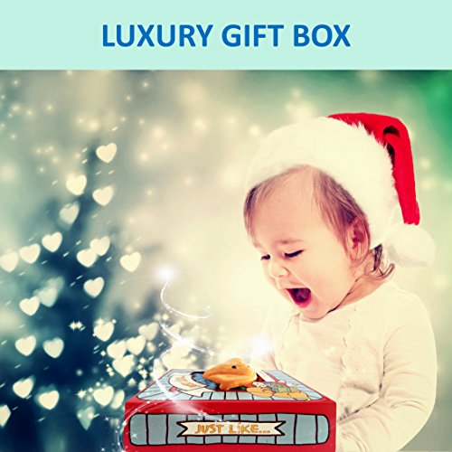Large Product Image of OUR BEST SOFT BOOK for BABIES Fabric Activity Crinkle Cloth Books, Handmade Educational Toys for Baby, 1 Year Old, Toddler with Peekaboo Flap, Interactive Baby Shower Gifts Boy Girl, Gift Box & eBook