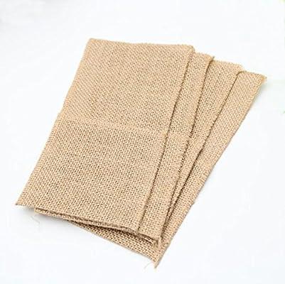 Amazon.com: Cheonus - 10 bolsas de arpillera para cubiertos ...