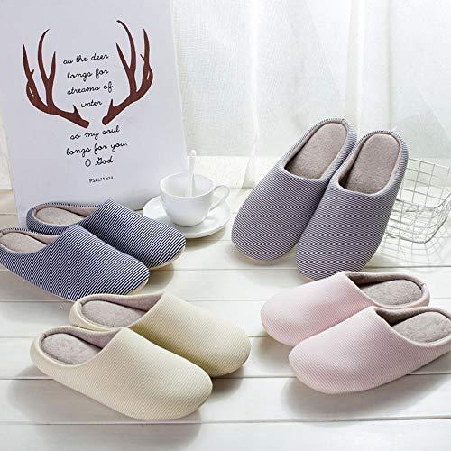 Da Pink Interno 44 Cotone Donna Per Foam Memory Gray Lavabili Dimensioni In 43 Lxf Pantofole colore Antiscivolo 5ZxAA7