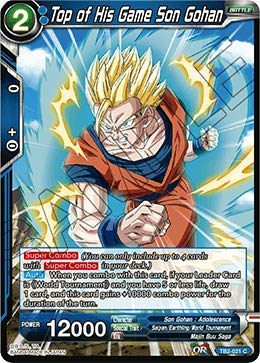 23896c4f275b9 Amazon.com: Dragon Ball Super TCG - Top of His Game Son Gohan - TB2 ...