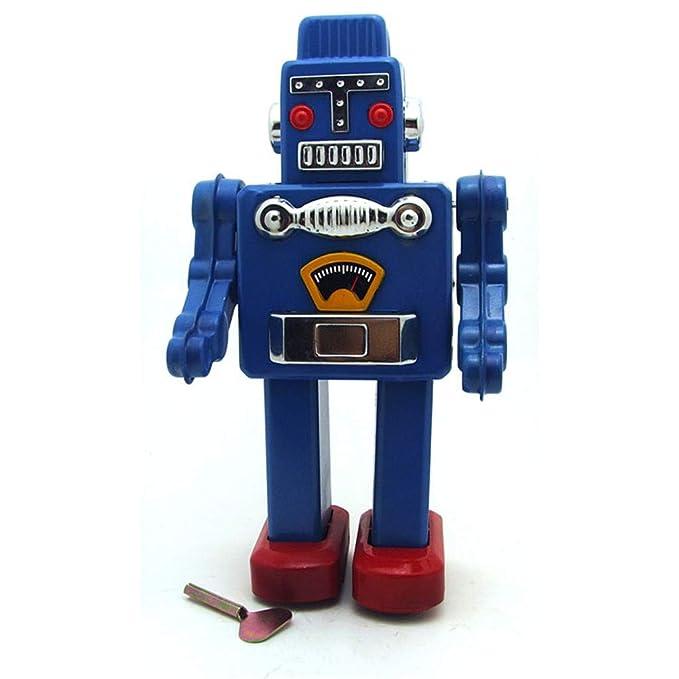 Amazon.com: Ikevan_ Robot Toy Tinplate Nostalgic Clockwork Chain Toy ...