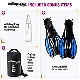 SNORKELSTAR Full Face Snorkel Set (Mask + Fins + Anti Fog + Drybag)