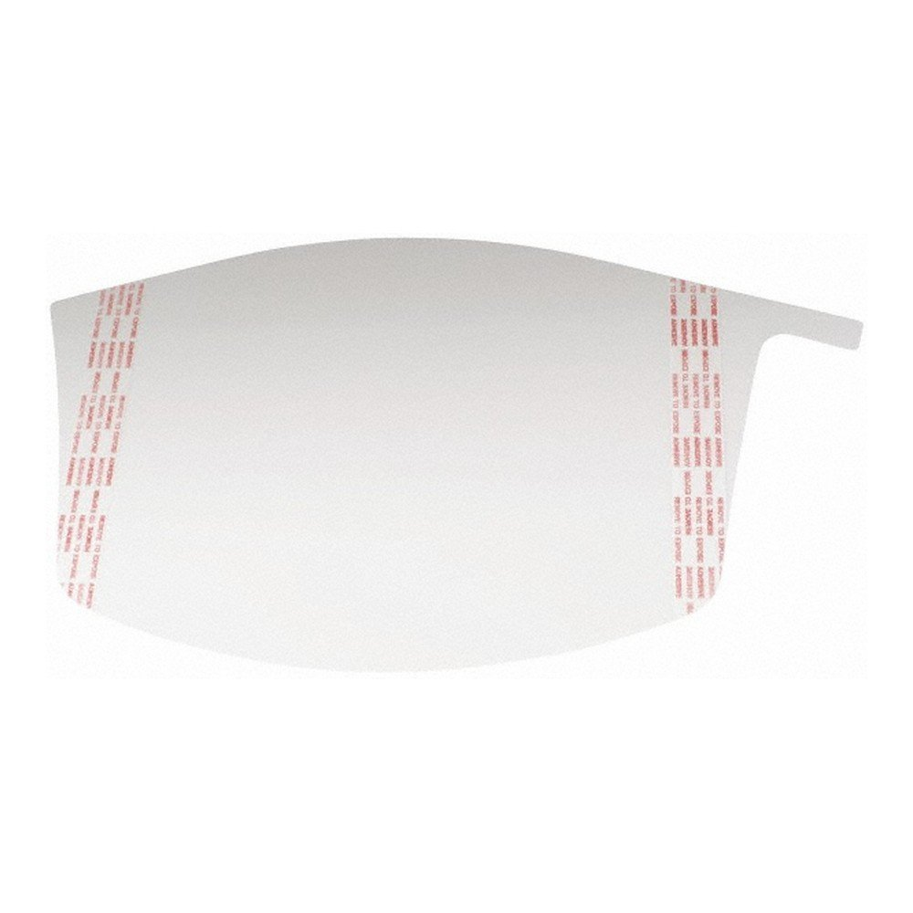3M 50051131373223 Versaflo Peel Off Visor Covers, Clear (Pack of 40)