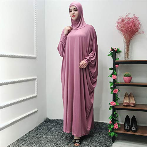 Clearance!Muslim Women Ethnic Robes Muslim Ramadan Long Sleeve Islamic Muslim Middle-East Cardigan Ramadan Dress (Watermelon) by PaJau (Image #1)