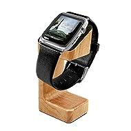 Tuff-Luv Bois Moulé de support de charge pour Apple Watch - Brun (effet de Chêne)