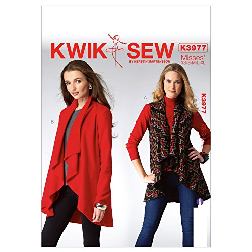 KWIK-SEW PATTERNS K3977 Misses' Vest and Jacket Sewing Template