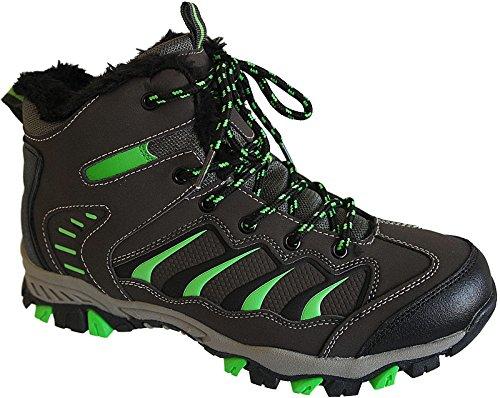 Herren Outdoor Stiefel Schuhe Sneaker Boots gr.41-46 warm gefüttert nr.5181 d.grau