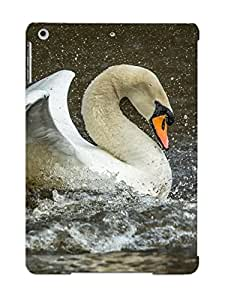 Exultantor Snap On Hard Case Cover Animal Mute Swan Protector For Ipad Air