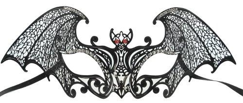 RedSkyTrader Mens Bat Laser Cut Mask One Size Fits Most Black -