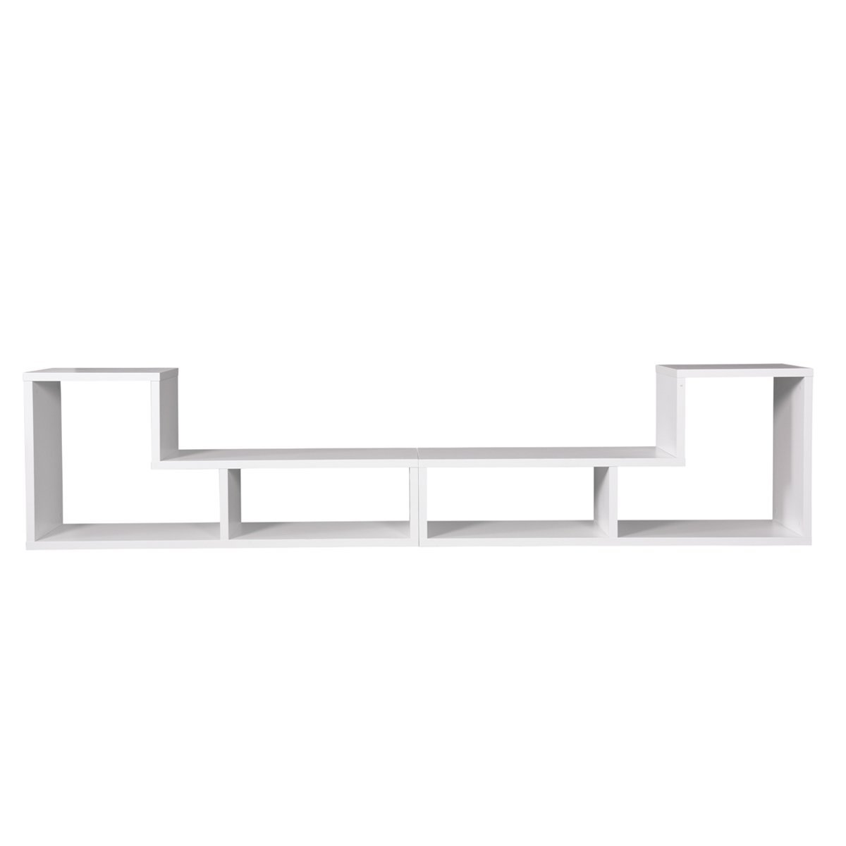 Schwarz DEVAISE Multifunctional H/ölzernen TV-Lowboard TV Schrank; 15mm Dicke B/ücherregal