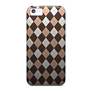 Hot Tpye Brown Argyle Case Cover For Iphone 5c