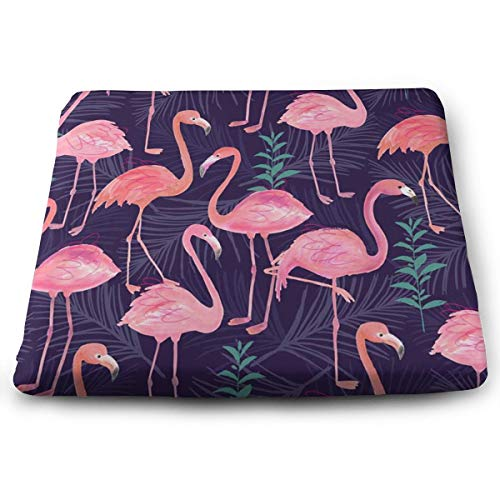 (MODREACH Memory Foam Ventilated Orthopedic Seat Cushion for Car and Office Chair - Washable & Breathable Cover (Cute Flamingo))