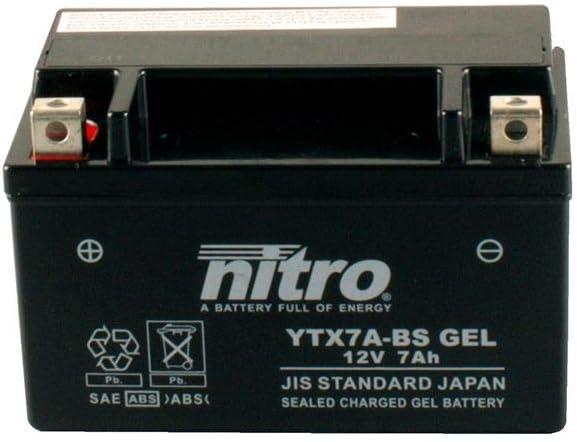 Batterie 12V 6AH YTX7A-BS Gel Nitro 50615 LT-R Quad Racer Z AAL41A 08-10