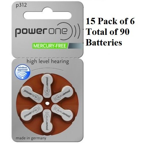 Hearing Aid One -  90 x Power One P312 Hearing Aid Batteries
