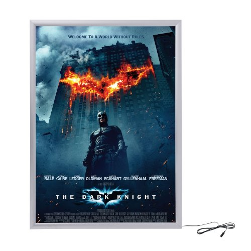 Silver Light Box Display for Movie Posters 24 x 36 Inch in S