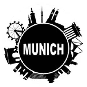 alfombrilla de ratón Múnich alrededor del horizonte - ronda - 20cm