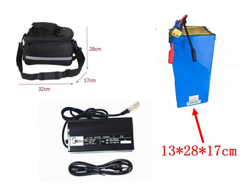 2017 New Style 72v 26.1Ah Panasonic Cell NCR18650PF Electric Bicycle Battery with 72V 4A Charger and matched battery bag ,for 3000W, 5000W Electirc bike Conversion kit.