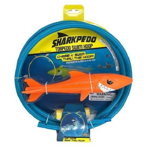 Sharkpedo Torpedo Swim Hoop 28 Inch Swim Thru Hoop; Chase'N Swim Thru The Hoop (Shark Color Orange) by Generic