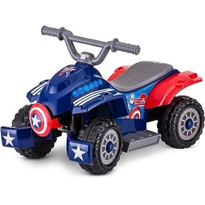 6V Marvel Captain America Toddler Quad: Toys & Games