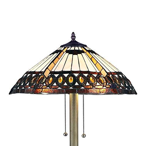 Serena Du0027italia 1908 Studios Amberjack Tiffany Style Floor Lamp, Elegant  Standing Lamp, Mosaic Stained Glass Floor ...