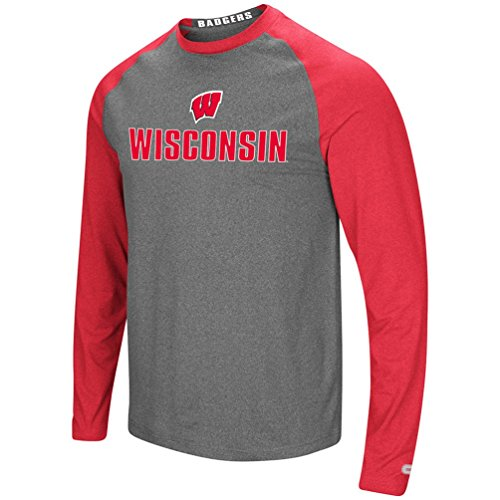 Colosseum Wisconsin Badgers Adult Social Skills L/S Shirt (XX-Large)