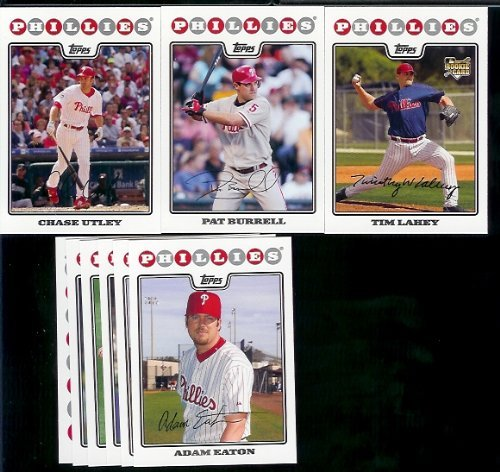 Philadelphia Phillies Baseball Cards 6 Years Of Topps Team Sets 2004,2005,2006,2007, 2008 & 2009 Includes ALL regular issue Topps Cards For 6 Years Includes Stars, Rookie Cards & More!