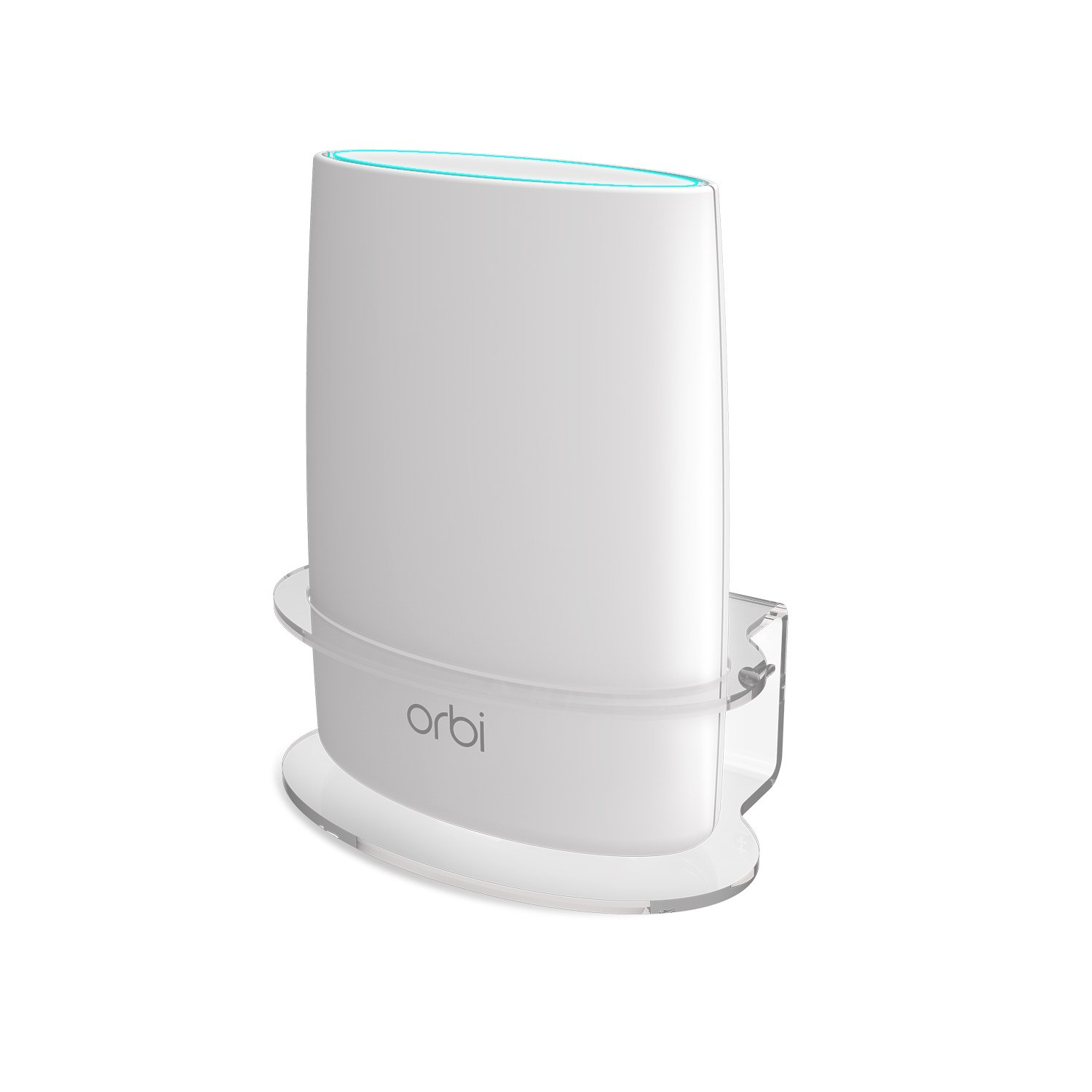 Netgear Orbi Wall Mount, BASSTOP Sturdy Clear Acrylic Wall Mount Bracket for NETGEAR ORBI AC3000/AC2200 Tri Band Home WiFi Router- (1 Pack)