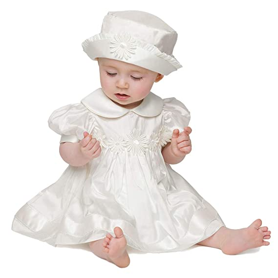 6d0508deb4c ShineGown Christening Gown for Baby Girls with Baptism Dress Bonnet ...