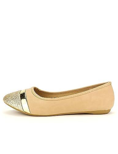18d063fbb41aee Cendriyon, Ballerine Beige Star Miss Paillettes Chaussures Femme Taille 41