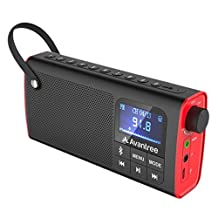 Avantree FM Radio / Portable Bluetooth Speaker / SD Card Player 3 in 1, Auto Scan & Save, LED display, Rechargeable Battery - SP850 [1 Year Warranty]