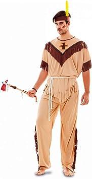 EUROCARNAVALES Disfraz de Indio Tótem para Hombre: Amazon ...