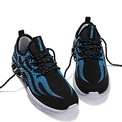 JiYe Shoes up Running Black Men's Fashion Sneakers Outdoors Blue Lace qPpHPn