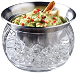 Prodyne Iced Dip-On-Ice Stainless-Steel Serving Bowl For Sale
