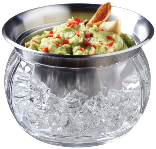 - Prodyne Iced Dip-On-Ice Stainless-Steel Serving Bowl