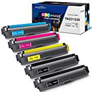 #LightningDeal GPC Image Compatible Toner Cartridge Replacement for Brother TN221 TN225 to use with MFC-9130CW HL-3170CDW MFC-9340CDW HL-3140CW HL-3180CDW MFC-9330CDW Printer (2 Black, 1 Cyan, 1 Magenta, 1 Yellow)