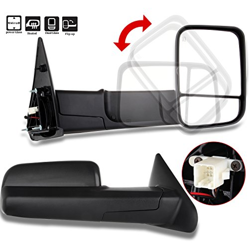 - SCITOO Compatible fit for Towing Mirrors 2002-2008 Dodge Ram 1500 2003-2009 Dodge Ram 2500 3500 Pickup Power Heated Passenger Driver Side View Pair Mirrors