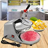 Super Deal Snow Cone Ice Shaver Shaved Ice Maker Machine Silver Snow Cone Maker Stainless Steel Shaving Smasher Silver (300b)