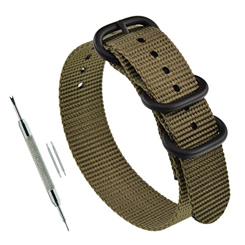 21mm Khaki Military G10 Thick NATO Nylon Replacement for sale  Delivered anywhere in USA