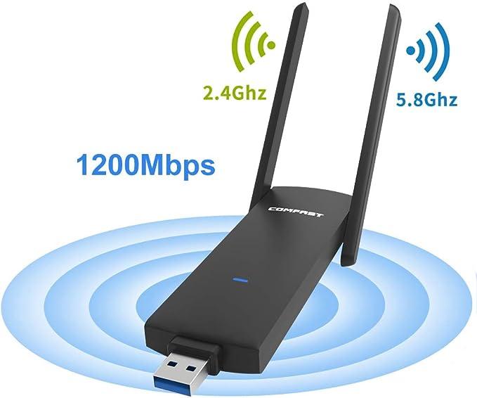 COMFAST Adaptador WiFi USB CF-926AC 1200Mbps ...