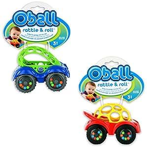 Amazon.com: O Ball Rattle and Roll Cars, Set de 2 en varios ...