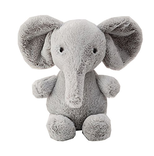 Price comparison product image Baby Kids Toddler Stuffed Animals Soft Plush Toy Grey Elephant 25-37cm