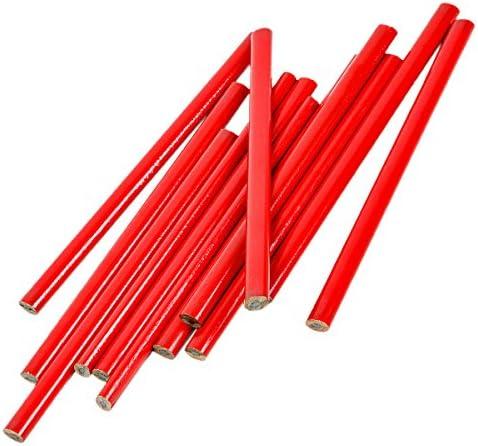 12x Zimmermannsbleistift Maurerbleistift Baubleistift Bleistifte Bau Stift rot