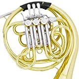 Mendini Intermediate Key of F/Bb Double French Horn with Solid Rotors String Lever Action, MFH-30L+92D